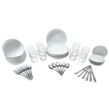 #StayHome Tabletop Set, featuring Arthur Krupp dinnerware and Steelite Bodega glassware