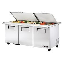 TRUE TSSU-72-30M-B-DS-ST-HC Dual Side Mega Top Sandwich/Salad Unit, (30) 1/6 size (4