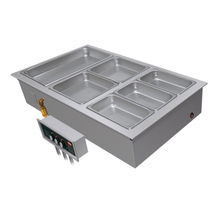 Hatco HWBI-2 Drop-In Modular/Ganged Heated Well, (2) full size pan capacity, insulated, top mounted, remote thermostat with separate power switch