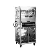 Equipex RBE-25 Sodir Rotisserie Roaster, infrared quartz elements, water bath/drip pan, (5) basket carousel 16-25 bird roasting capacity, tinted