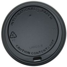 DOME HOT CUP LID BLACK (1000) FOR 12 & 16 OZ HOT CUPS