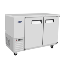 Atosa MBB59 Atosa Refrigerated Back Bar Cooler, reach-in, two-section, self-contained side mount refrigeration, 17.3 cu. ft. capacity