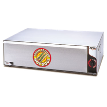 APW BW-31 Hot Dog Bun Warmer, free standing, (72) bun capacity, thermostatic controls, (1) drawer, removable pan, stainless steel drawer, slides