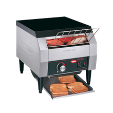 Hatco TQ-10-120-QS Toast-Qwik Conveyor Toaster, horizontal conveyor, countertop design, all bread types toaster, approximately