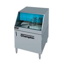 Champion CG Glasswasher, underbar type, low temperature chemical sanitizing, rotary conveyor design, 25-1/4