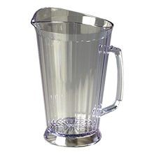 PITCHER PLASTIC 60 OZ CLEAR CRYSTALITE 6/CS