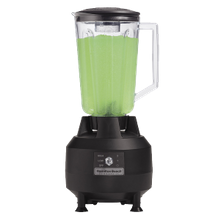 Commercial Bar Blender, 44 oz. This commercial blender features a polycarbonate container and stainless steel blades, 2-speed.