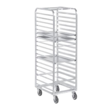 Mobile, multi-purpose rack for holding, storing and transporting 18x26 Bun pans. 701/4