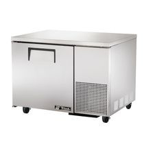 TRUE TUC-44F Deep Undercounter Freezer, -10 F, stainless steel top & sides, (1) stainless steel door, (2) shelves, aluminum interior with stainless