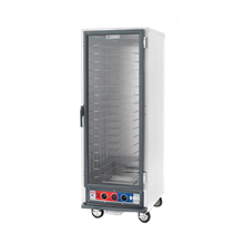 Metro C519-CFC-L C5 1 Series Heated Holding & Proofing Cabinet, mobile, full height, non-insulated, clear polycarbonate door, removable bottom mount