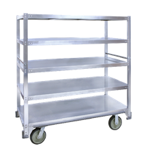 Cres Cor 271-51-5927 Queen Mary Cart, all riveted framework of structural aluminum extrusions, 5 shelves on 11