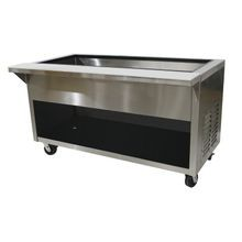 Advance Tabco HDCPU-4-BS Heavy Duty Ice Cooled Serving Counter, 62-1/2