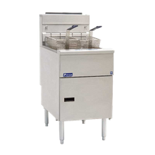 Pitco SE18 Solstice Fryer, electric, floor model, full frypot, 70 - 90 lb. oil capacity, solid state controls, melt cycle, boil out capacity, drain