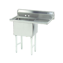 Advance Tabco FS-1-3024-24R Fabricated NSF Sink, 1-compartment, 24