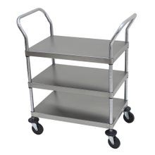 Utility Cart, open design, thr ee shelves, shelf size ap