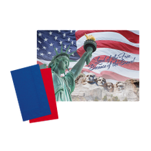 Hoffmaster 856778 Placemat Patriotic Combo (250)