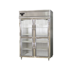Continental DL2F-GD-HD Designer Line Freezer, reach-in, two-section, self-contained refrigeration, aluminum exterior & interior, stainless steel