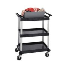 Lakeside 2500 Bus Cart, 3-shelf, 31-3/4