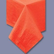 TABLECOVER 54X108 ORANGE POLY/TISSUE (25)