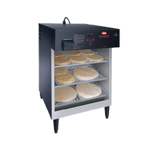 Hatco FSHAC-3 Flav-R-Savor Air Curtain Heated Display Cabinet, counter model, (3) tier slides for 1/2 size sheet pans, 4