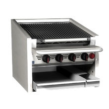 Coal Charbroiler, countertop, gas, 36