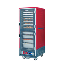 Metro C539-CDC-U C5 3 Series Heated Holding & Proofing Cabinet, with Red Insulation Armour, mobile, full height, insulated, Dutch clear