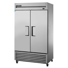 TRUE TS-43-HC Refrigerator, Reach-in, two-section, (2) stainless steel doors, stainless steel front/sides, stainless steel interior, (6) white