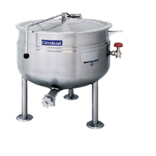 Cleveland KDL80SH Short Series Steam Jacketed Kettle, direct steam, 80-gallon capacity, 34.8
