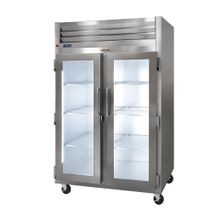 Traulsen G21016P Dealer's Choice Display Refrigerator, Pass-thru, two-section, self-contained refrigeration with microprocessor control, front full
