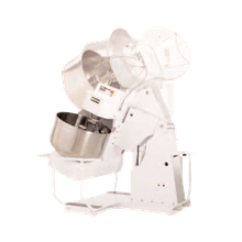 Doyon AB100XE Spiral Mixer, 350 lb. dough capacity, 2 speeds, programmable digital control, stationary stainless steel bowl, safety guard & mixing
