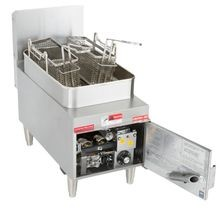 Star 615FF Star-Max Heavy Duty Fryer, gas, countertop, 15 lb. capacity, single nickel plated steel frypot, twin baskets, snap action thermostat with