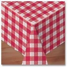 TABLECOVER 50X108 REDCHECK LINEN-LIKE (24)