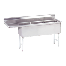 Advance Tabco FC-3-1515-15L-X Fabricated NSF Sink, 3-compartment, 15