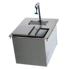 Advance Tabco D-24-WSIBL2-X Ice & Water Unit, drop-in, single service, , 18 x 21-1/4 overall (ice bin 18 x 13.5 x 10), 1