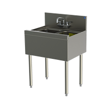 Perlick TSD22C TSD Series Underbar Sink Unit, two compartment, 24