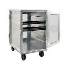New Age 97655CD Room Service Cart, pass-thru, polycarbonate reinforced doors, holds (12) 15