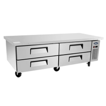 Atosa MGF8453 Atosa Chef Base, two- section, self-contained refrigeration, 15.0 cu. ft.