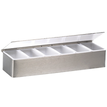 Krowne C-32 Standard Series, Condiment Tray, (6) plastic cups & cover, stainless steel construction