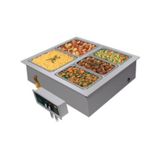Hatco HWBI-1 Drop-In Modular/Ganged Heated Well, (1) full size pan capacity, insulated, top mounted, remote thermostat with separate power switch