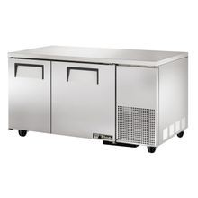 TRUE TUC-60-32F Deep Undercounter Freezer, -10 F, stainless steel top & sides, (2) stainless steel doors, (4) PVC coated wire shelves, aluminum
