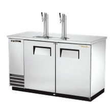 TRUE TDD-2-S-HC Draft Beer Cooler, (2) keg capacity, stainless steel counter top, stainless steel exterior & (2) doors with locks, galvanized