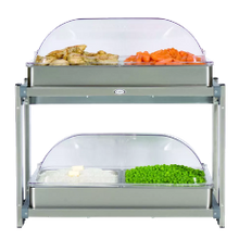 Cadco CMLB-24RT Multi-Level Buffet Server, (2) 20-1/2