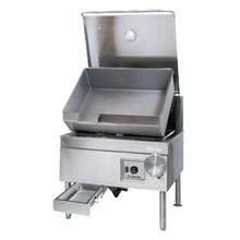 Cleveland Range SEM40TR DuraPan Tilting Skillet, electric, 40-gallon capacity, modular enclosed cabinet base, standard with hydraulic hand tilt