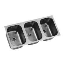 Eagle FDI-12-14-9.5-3 Undermount Sink, three compartment, 12