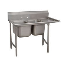 Advance Tabco 93-42-48-24R Regaline Sink, 2-compartment, with right-hand drainboard, 24