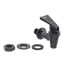 FMP 178-1079 Hot Syrup Faucet, includes (2) washers & (1) lock nut, plastic, black
