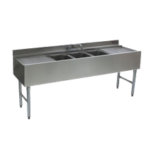 Eagle B6C-18 1800 Series Underbar Sink Unit, Three Compartment, 72