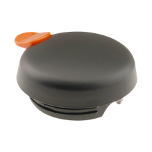 FMP 290-1042 Vacuum Server Lid, push button, black with orange trigger, decaf, for FVP SteelVac carafe