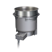 Hatco HWB-7QT Drop-In Heated Well, round, 7 quart, top mounted, remote thermostat with separate power switch, stainless steel construction