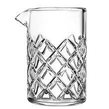 YARAI MIXING GLASS W/POUR LIP 14 3/4OZ DIAMOND CUT 4EA/CS